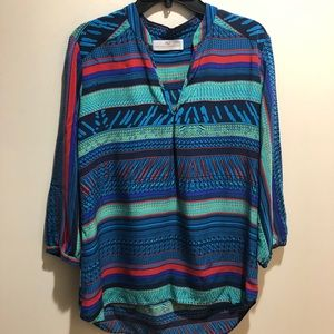 Amanda Uprichard Size Medium Blue Striped Silk